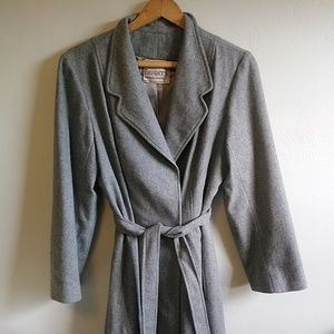 Vintage Gray Minimalist Winter Pea Coat Kentucky